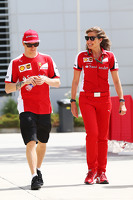 Kimi Raikkonen, Ferrari with Stefania Bocchi, Ferrari Press Officer