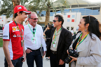 Esteban Gutierrez, Ferrari Test and Reserve Driver with driver manager Didier Coton and Roberto Aguirre