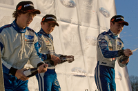 Podium from left: Rafael Martins, Lando Norris and Daniel Ticktum