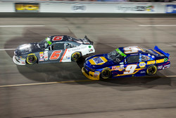 Darrell Wallace Jr., Roush Fenway Racing Ford and Chase Elliott, JR Motorsports Chevrolet