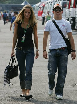 Christian Klien with his girlfriend