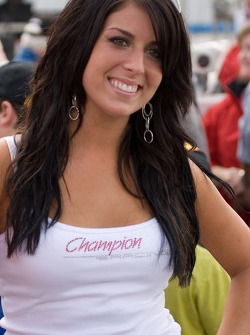 Audi Sport North America flag girl