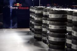 Michelin tyres in the Scuderia Toro Rosso garage
