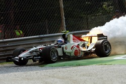 Anthony Davidson after his engine failture