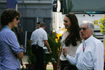 Bernie Ecclestone with Enzo Ferrari and Tamara Ecclestone