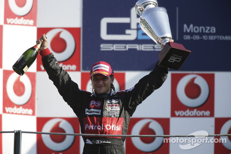Podium: race winner Giorgio Pantano