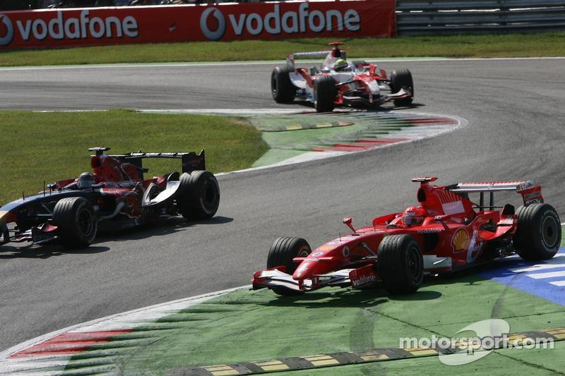 Michael Schumacher, Scott Speed and Ralf Schumacher