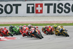 Start: Dani Pedrosa and Valentino Rossi battle for the lead