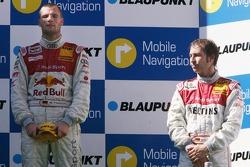 Podium: race winner Martin Tomczyk with Heinz-Harald Frentzen