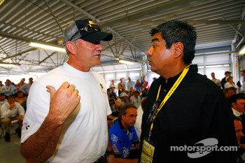 Dale Jarrett and actor George Lopez