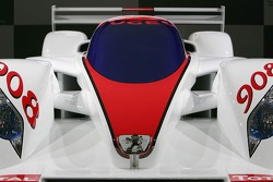 A full scaled model of the new Peugeot 908 V12 HDi FAP is presented at the Paris Auto Show