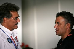 Dr. Mario Theissen and Jean Alesi
