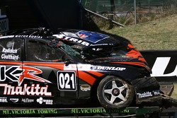 Paul Radisich's wrecked Car
