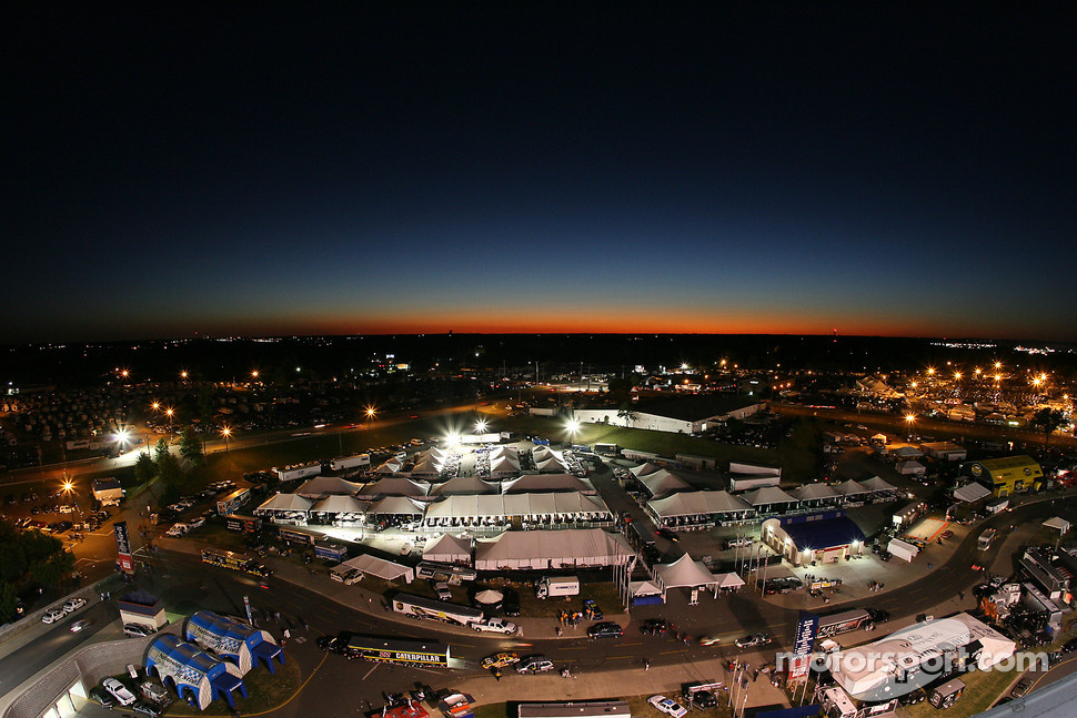 A view of the display and hospitality village at lowe 39 s for Lowe s motor speedway
