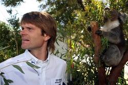 Marcus Gronholm with a koala