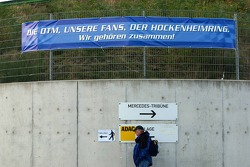 Sign at the Hoockenheim circuit declaring the close connection between the circuit, the fans and the DTM for past years and the future