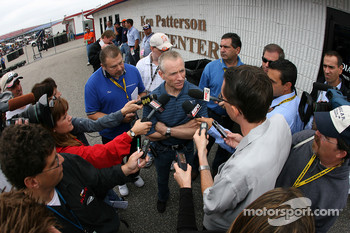 Mark Martin talks to the media