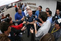 Mark Martin talks to the media
