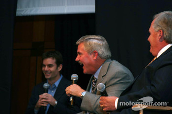 Jeff Gordon and Terry Labonte share a laugh