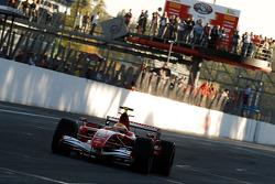 Michael Schumacher in his Scuderia Ferrari 248 F1 for the last time