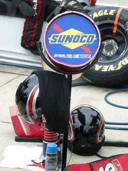 Racing fule sits ready