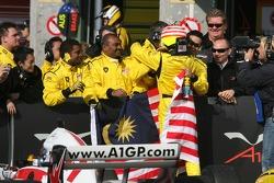 Race winner Alex Yoong