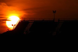 Sunset on the grandstands