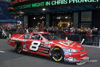 Dale Earnhardt Jr. in the streets of New York for the Victory Lap