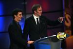 Comedian Jay Mohr jokes with Jeff Gordon during the 2006 NASCAR NEXTEL Cup Series Awards Ceremony