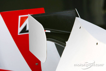 Detail of the Super Aguri F1 interim chassis