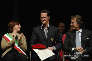 Lucia Bursi, Michael Schumacher e Luca di Montezemolo