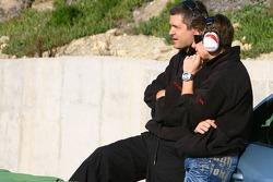 Gil de Ferran and Marco Andretti