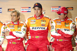 Team Repsol presentation in Barcelona: Gilles Picard, Nani Roma and Stéphane Peterhansel
