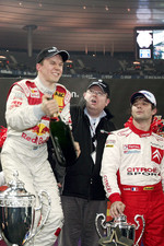 Champagne for Race of Champions winner Mattias Ekstrm