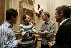 Gala night at Georges V hotel with Mattias Ekstrom and Tom Kristensen