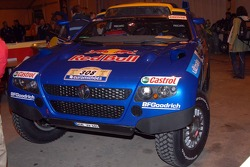 The Volkswagen Race Touareg 2 of Ari Vatanen and Fabrizia Pons at scrutineering