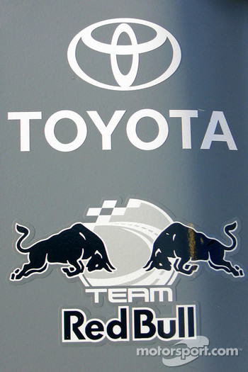 Detail of the Red Bull Toyota of Brian Vickers