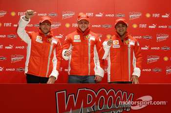 Press conference: Luca Badoer, Kimi Raikkonen and Felipe Massa