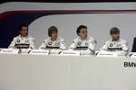 Timo Glock, Sebastian Vettel, Robert Kubica and Nick Heidfeld