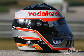 Helmet of Fernando Alonso
