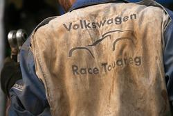 Volkswagen Motorsport team member at work
