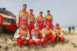 Team Repsol Mitsubishi Ralliart drivers and codrivers