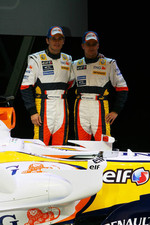 Giancarlo Fisichella and Heikki Kovalainen