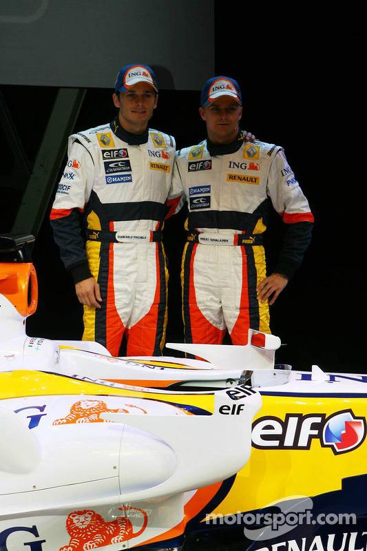 Giancarlo Fisichella and Heikki Kovalainen