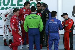 Scott Dixon, Dan Wheldon, Max Papis, Juan Pablo Montoya, Jeff Gordon and Bobby Labonte