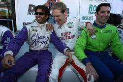 Christian Fittipaldi, Jorg Bergmeister and Max Papis