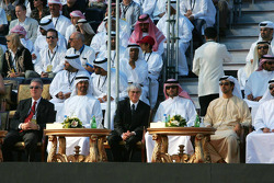 Piero Lardi Ferrari with His Highness Sheikh Mohammed Bin Zayed Al Nahayan, Bernie Ecclestone and Sheikh Hamadan Bin Mohammed Bin Rashid Al Maktoum