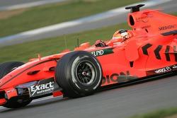 Christijan Albers tests the 2007 Spyker-Ferrari F8-VII
