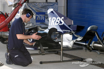 Williams team member at work