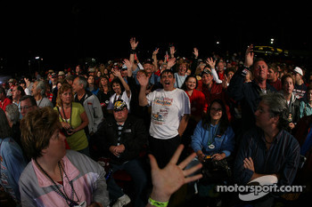 NASCAR fans wait for drivers